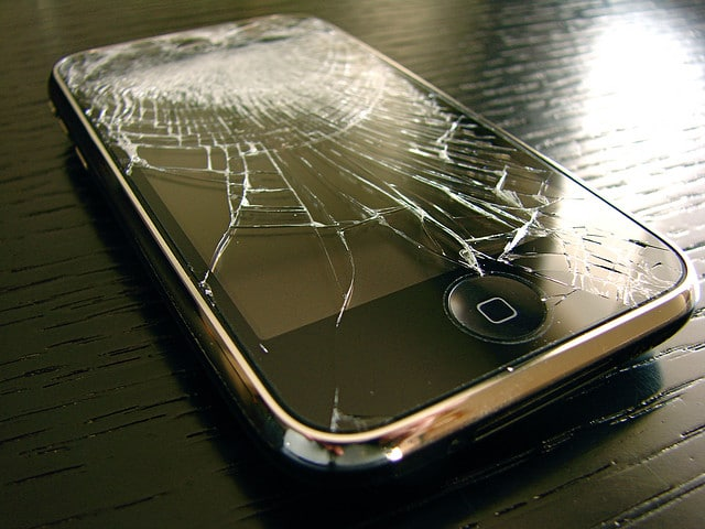 Crashed iPhone