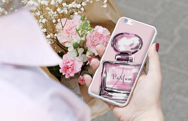 Smartphone-Etui in Pink
