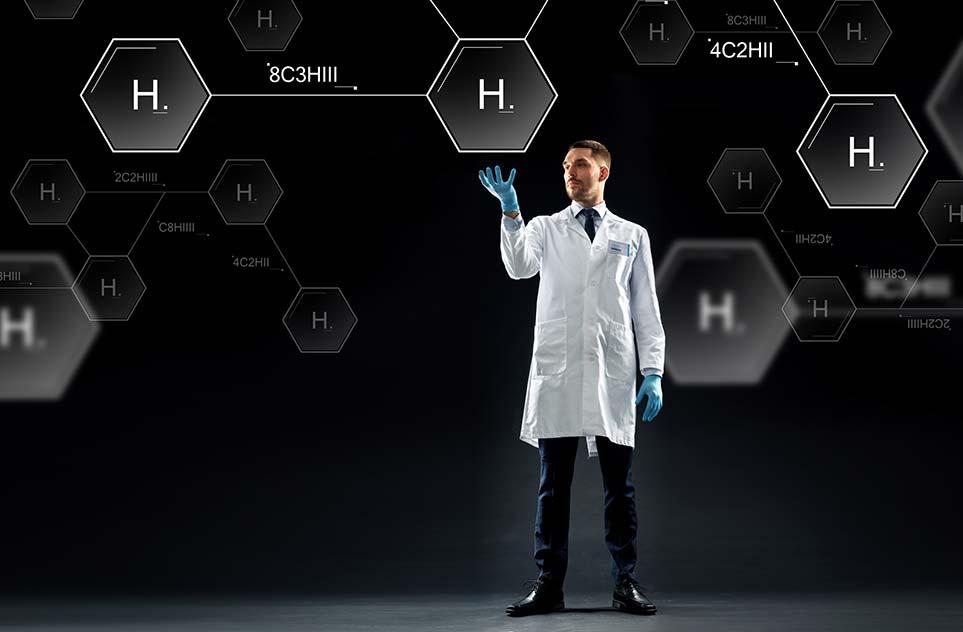 Wasserstoff ist eine chemische Formel