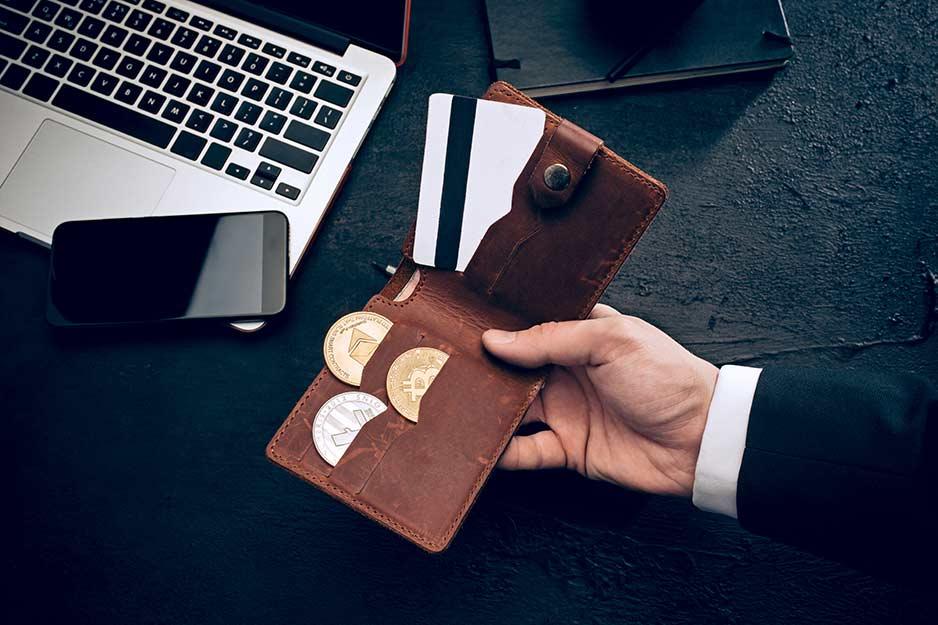 Bitcoins in der Geldbörse